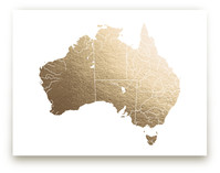 Australia Map by Jorey Hurley