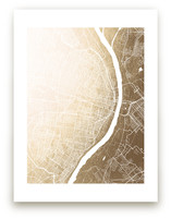 St. Louis Map Foil-Pressed Wall Art