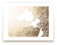 Madison Map by Melissa Kelman