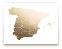 Spain Map by Jorey Hurley