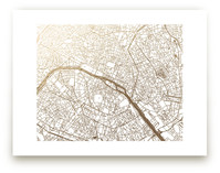 Paris Map Foil-Pressed Wall Art