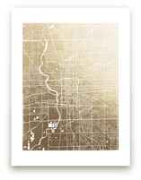 Indianapolis Map by Melissa Kelman