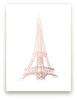 La Tour Eiffel Foil-Pressed Wall Art