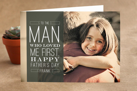 Man Who Loved Me First Father's Day Greeting Cards