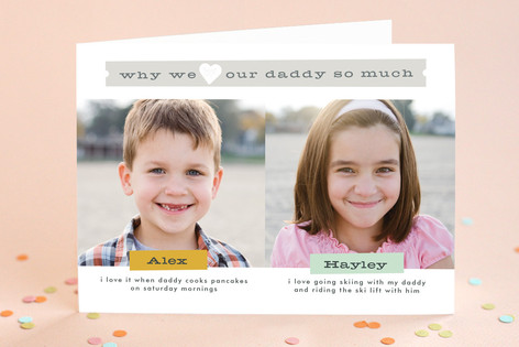 Why We Love Daddy Father's Day Greeting Cards
