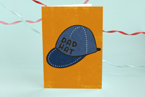 Dad Hat Father's Day Greeting Cards