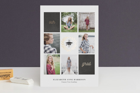 Laurel Foil-Pressed Graduation Announcements