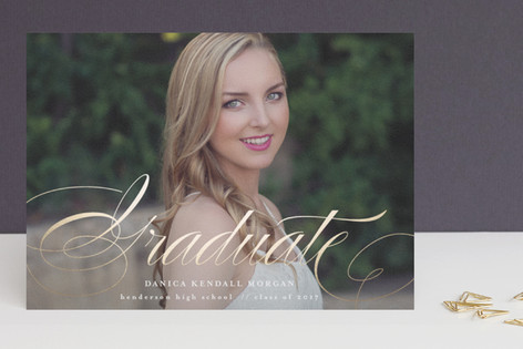 Pomp + Elegance Foil-Pressed Graduation Announcements