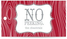 No Peeking Woodgrain Gift Tags