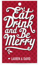 Eat, Drink and Be Merry Gift Tags