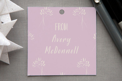 Monogram Bouquet Gift Tags
