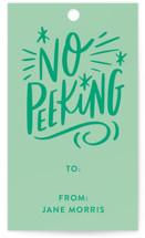 No Peeking Tag