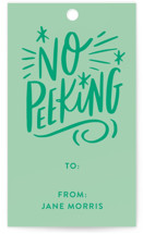 No Peeking Tag