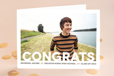 Modern Congrats Graduation Greeting Cards