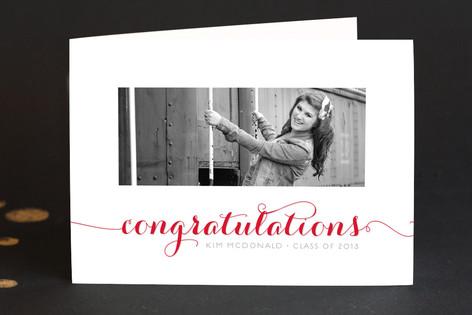 Calligraphic Congrats Graduation Greeting Cards
