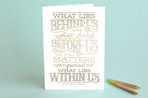 What Lies Within Us Graduation Greeting Cards