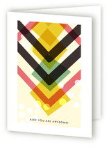 Chevron Just Because Greeting Cards