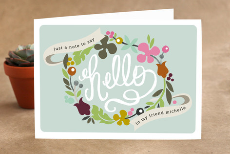 Hello Banners Just Because Greeting Cards