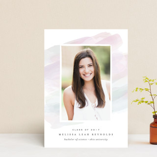 Pastel Watercolor Graduation Petite Cards