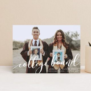 Happy to be College Bound Graduation Petite Cards