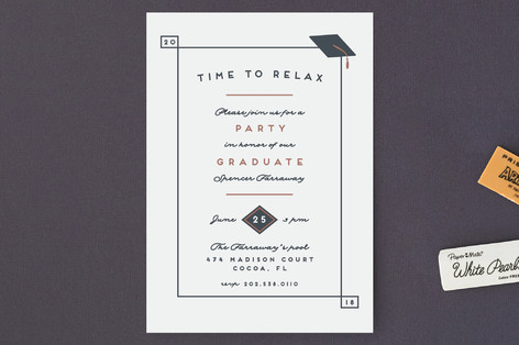 Time to relax Graduation Petite Cards