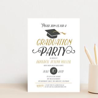 Chic Cap Graduation Petite Cards