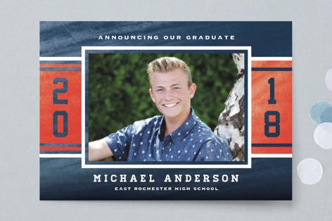 Varsity Blue Graduation Petite Cards