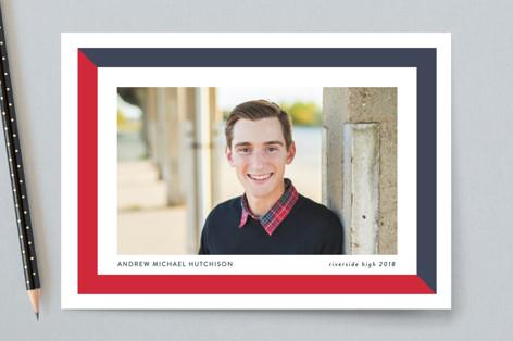 (School) Colorblock Graduation Petite Cards
