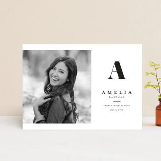 Bold monogram Graduation Petite Cards