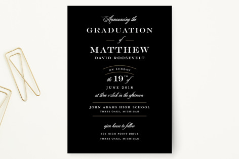 Formal Announcement Graduation Petite Cards