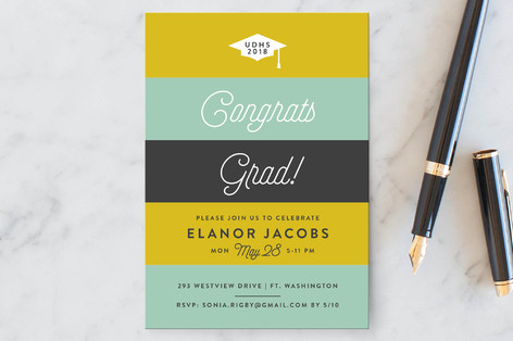 Stripy Graduation Petite Cards