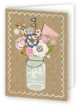 Kraft Jar Bouquet Mother's Day Greeting Cards