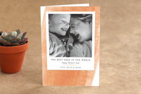 Watercolor Swash Mother's Day Greeting Cards