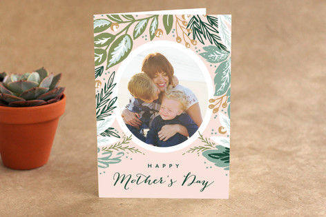 Foliage Oval Mother's Day Greeting Cards