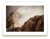 Man and a Mountain by Uros Zagozen