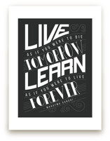 How To Live And Learn Art Prints