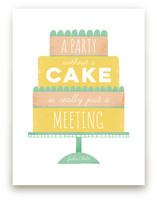 No cake no party by Maria M. Keeler