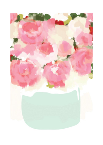 Peonies in Vase Art Prints