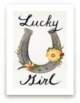 Lucky Girl Art Prints