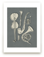Jazz Duet #1 Art Prints