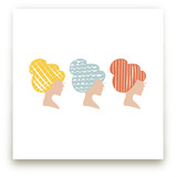 A Blonde, a Brunette, and a Redhead  Art Prints