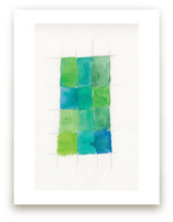 Aqua Grid Art Prints