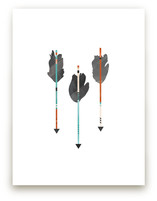 Feathered Arrows Art Prints