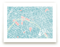 The Map of Paris Art Prints