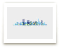 A City at Night Art Prints
