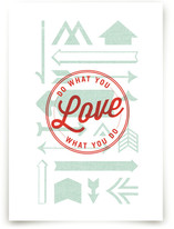 Love Crest Art Prints