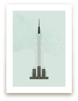 Empire State Building Flare Art Prints