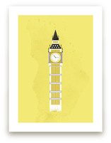 Big Ben Flare Art Prints