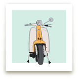 Scootin&#039; Art Prints