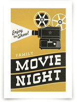Family Movie Night Art Prints